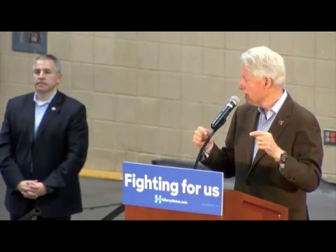President Bill Clinton visits TAMIU Campus Laredo, Texas