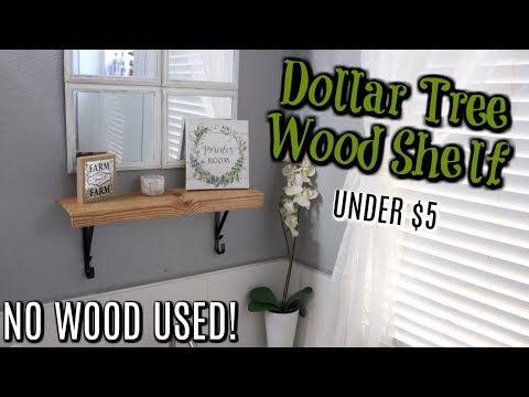 DOLLAR TREE DIY WOOD SHELF// FARMHOUSE SHELF