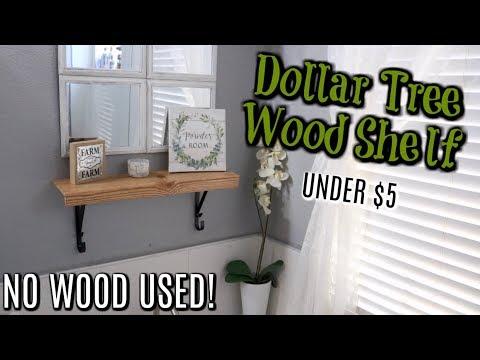 DIY FARMHOUSE SHELF// USING DOLLAR TREE ITEMS// NO WOOD USED