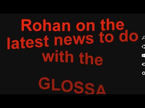 Rohan on the latest news to do with the GLOSSA