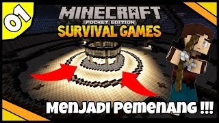 CARA MENANG di Survival Games !!! | Minecraft PE Survival Games Indonesia #01