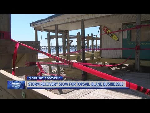 Storm recovery slow for Topsail Island business