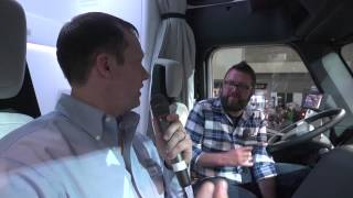 Stepping Inside Freightliner SuperTruck At MATS 2015