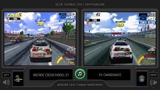 Sega Touring Car (Arcade vs Pc) Side by Side Comparison