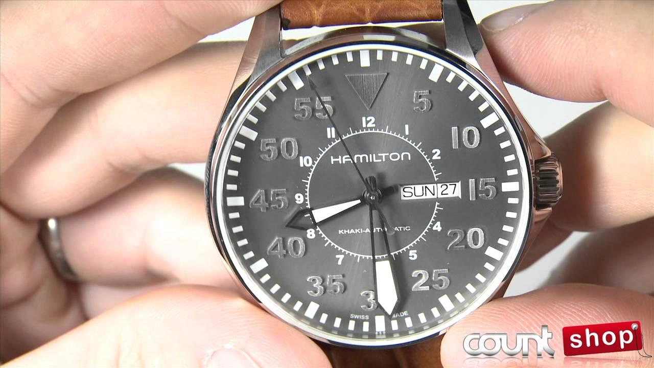 Hamilton Khaki Pilot H64715885 - review by DiscountShop.com.com - YouTube 368abc77436