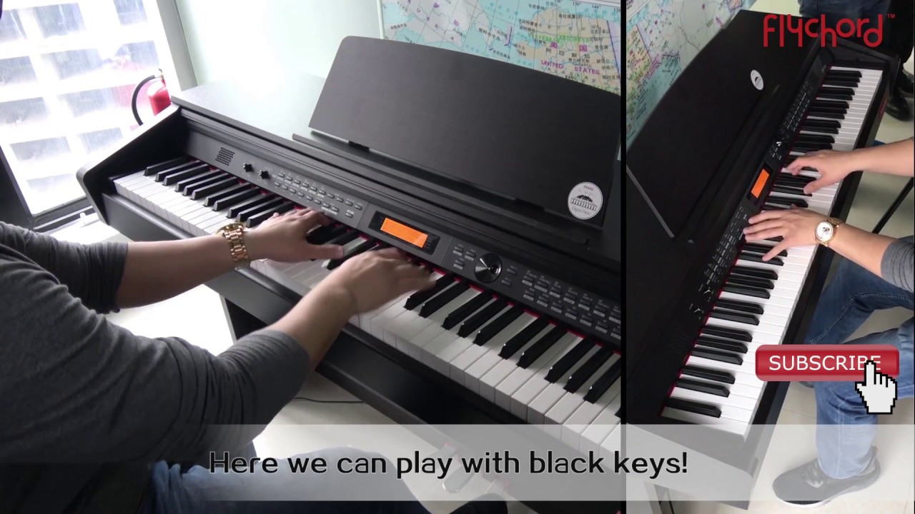 flychord dp330 digital piano 88 keys transpose function show youtube. Black Bedroom Furniture Sets. Home Design Ideas