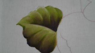 Como pintar folha – Peras, laranjas e folhas – Aula 1 Cristina Ribeiro