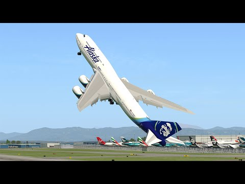 Giant Boeing 747 Vertical Takeoff | X-Plane 11