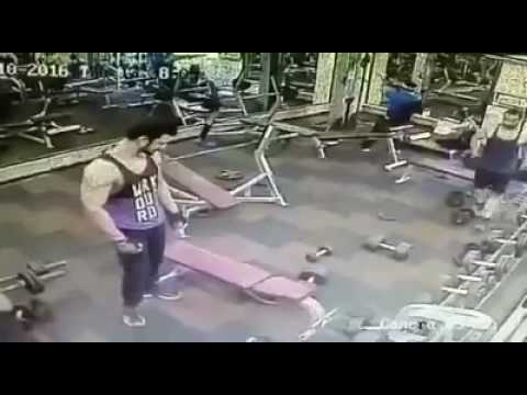 Gold gym fight between two members