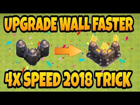 Upgrade Your Wall Faster/2018 Trick-clash Of Clans