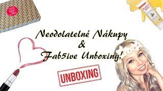 Neodolatelné nákupy & FAB5IVE unboxing!│Kate Wednesday