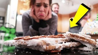 ginger bread house challenge (hilarious fail)
