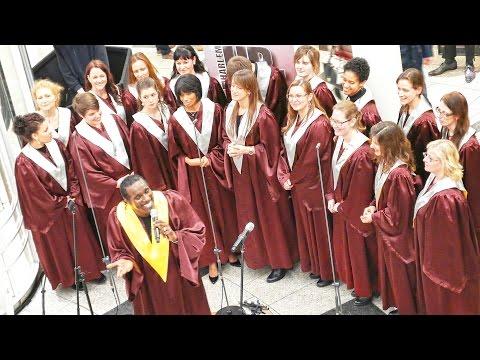 Harlem Praise Family concert & Breuninger shopping centre 4K Germany Stuttgart.