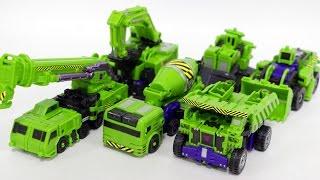 Transformers Combiner War Construction Devastator Vehicle Robot Car Toys 트랜스포머 컴바이너워 데바스테이터  합체 동영상