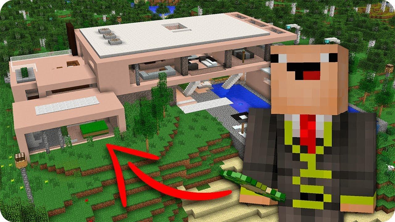 Beb noob vs mansi n la mejor casa moderna en minecraft for La casa moderna