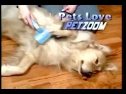 Самопочистваща се четка за кучета и котки Pet Zoom