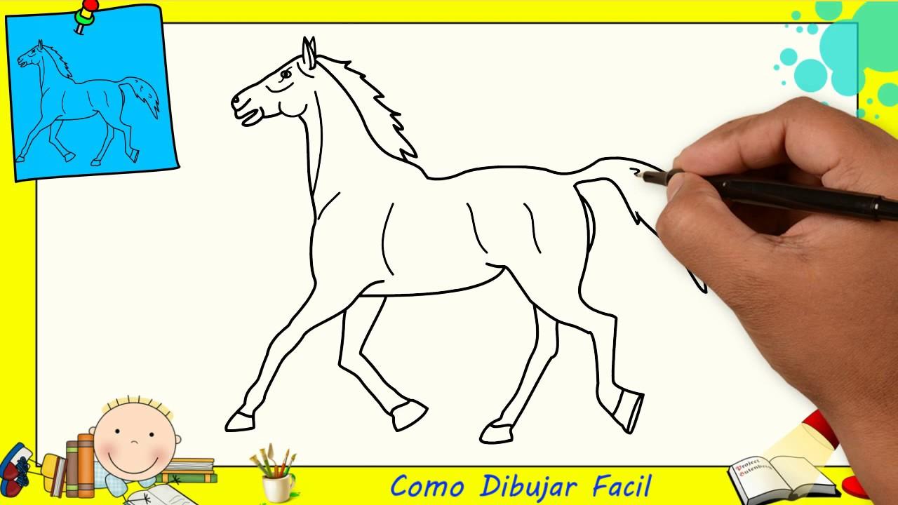 Como Dibujar Un Caballo FACIL Paso A Paso Para Niños Y