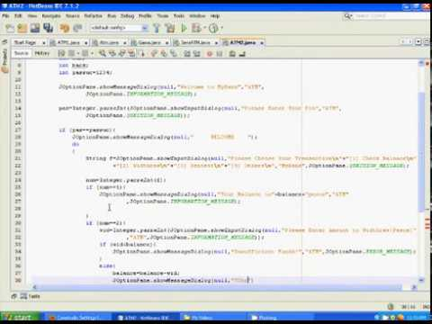 atm project in java using netbeans