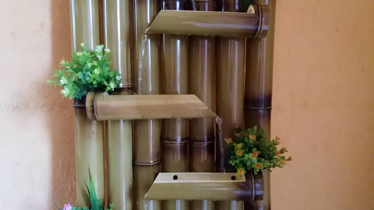 fuentes en bambu - YouTube