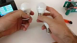 Реальный бой led ламп: Mini 627 против ламп Lexman 6W и Titanium 5W