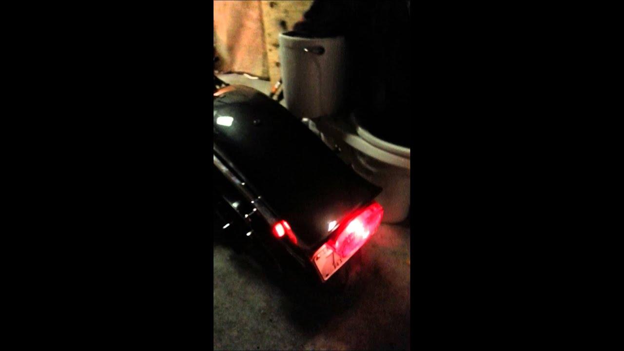 alloy art fender strut marker lights on 05 fxst youtube. Black Bedroom Furniture Sets. Home Design Ideas
