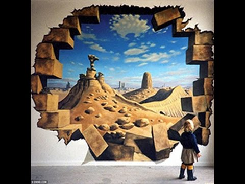 11 peintures murales 3d incroyable youtube for Dessin sur mur interieur