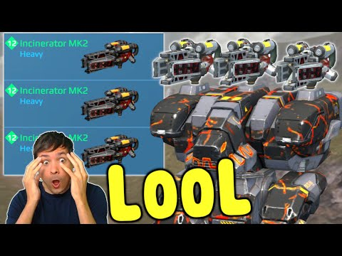 LOOL! New INCINERATOR FURY 6.9 Mk2 Gameplay - War Robots Update WR
