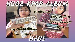 HUGE KPOP ALBUM HAUL + PHOTOCARD REVEAL   14 ALBUMS FOR $300 (MONSTA X, EXO + NCT)