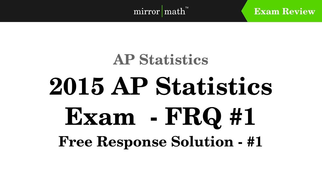 Online AP Statistics Exam Prep - Shmoop