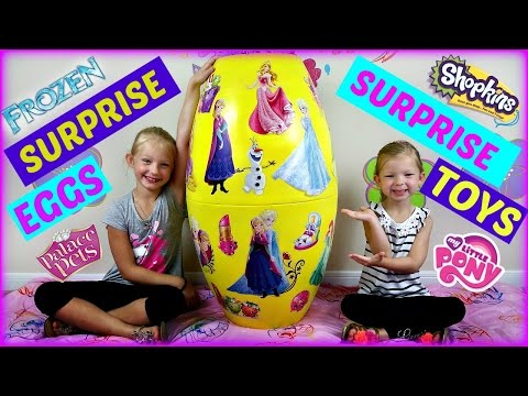 BIGGEST SURPRISE EGGS OPENING - Surprise Toys Shopkins My Little Pony Sofia the First Frozen