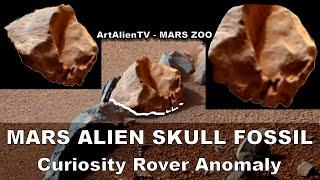 MARS: Alien Skull Fossil: Curiosity Rover Image Autopsy. ArtAlienTV - 1080p