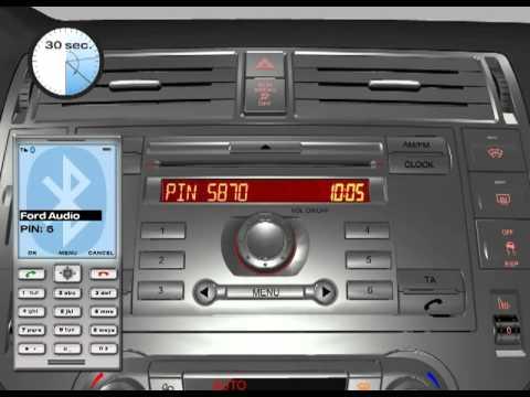 Ford Mondeo Mk4 Radio Wiring Diagram 1996 Honda Civic Alternator 6000cd Mobile Phone Connection Youtube