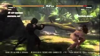 Spirit_Icana (PHASE4) vs Azuardo (KASUMI) DOA5U GAF Tourney Halloween 2014