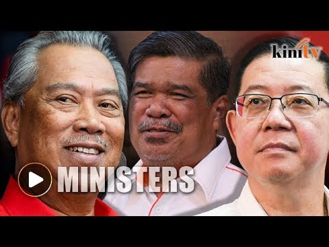 Ministers: Guan Eng finance, Mat Sabu defense, and Muhyiddin home affairs