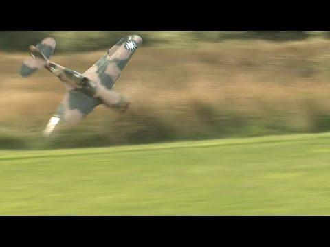 Crash of Giant  Warbird P 40 Warhawk