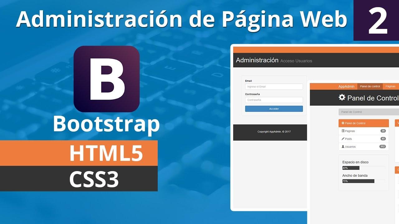 Como Crear la Administración de una Aplicación Web con Bootstrap ...