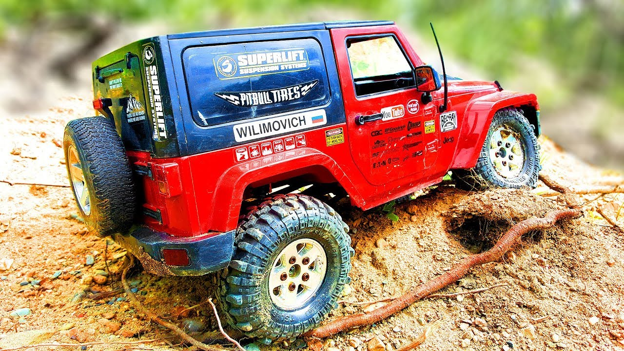 Amazing OFF Road NO MUD RC Car Jeep Wrangler Rubicon MST CFX  Wilimovich