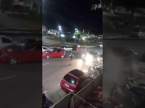Agora! Policia persegue meliantes no centro de Simões Filho; Veja o vídeo