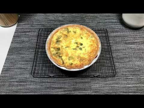Broccoli, Kale Cheddar Quiche