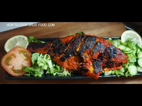 Fish tikka recipe whole tilapia indian youtube for Whole fish recipes