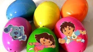 6 Nickelodeon Surprise Eggs Diego Backyardigans Blue