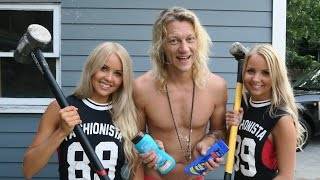 Smashing Sunscreen with a Sledgehammer and Twins! - Dudesons VLOG
