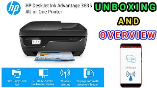 HP DeskJet Ink Advantage 3835 All-in-One Printer | Unboxing & review | TECHNO DUNIA | Hindi