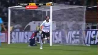 Corinthians 1 x 1 Santos (Libertadores) 20/06/2012 lances gols semi final