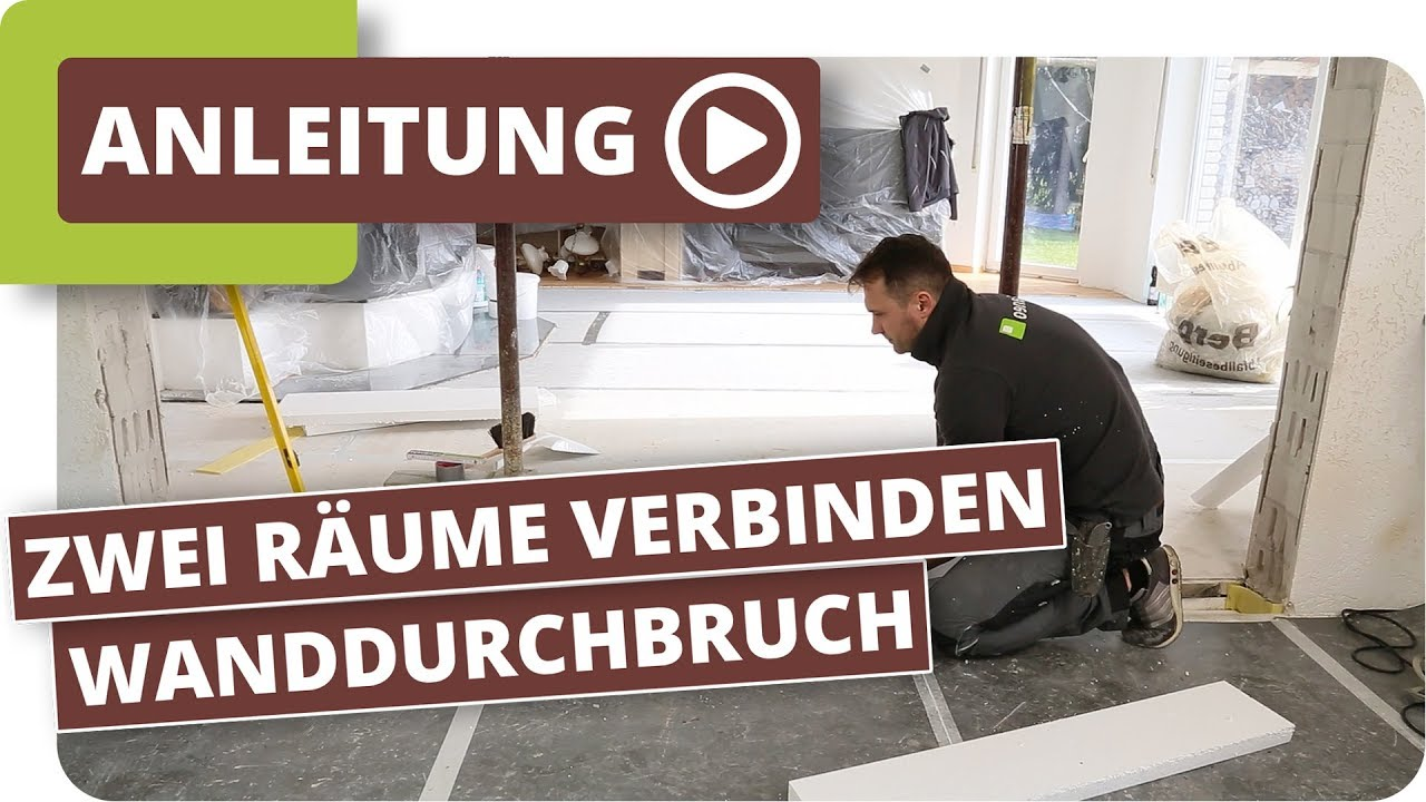zwei r ume mit einem wanddurchbruch verbinden raumgestaltung ideen und tipps youtube. Black Bedroom Furniture Sets. Home Design Ideas