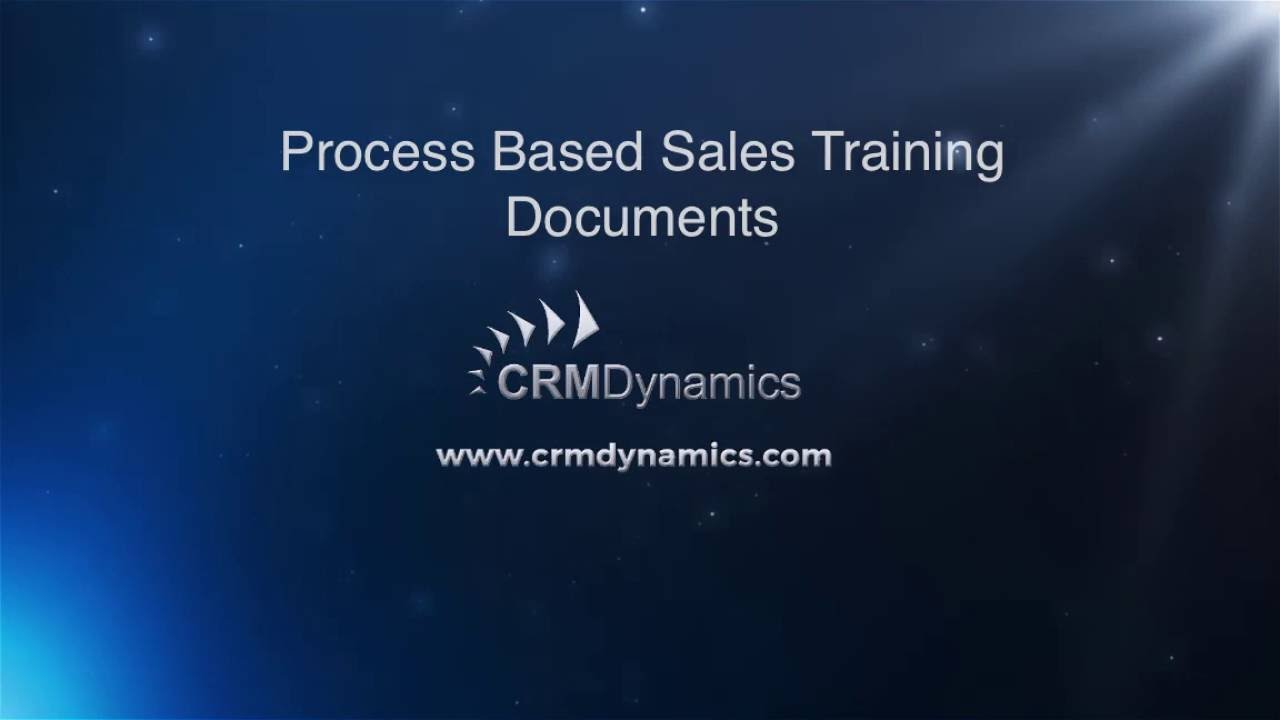 Create Your Own Processed Based Sales Training Documents for ...