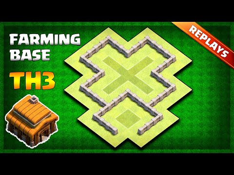 NEW Town Hall 3 (TH3) Farming Base Layout 2019 - With Replays | Clash Of Clans