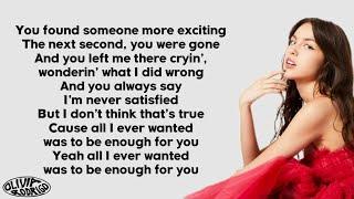 Olivia Rodrigo - enough for you (Lyrics)