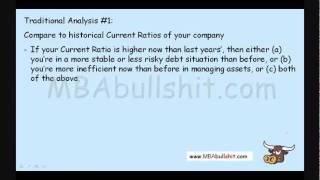 Current Ratio Analysis in 16 minutes - Financial Ratio Analysis Tutorial