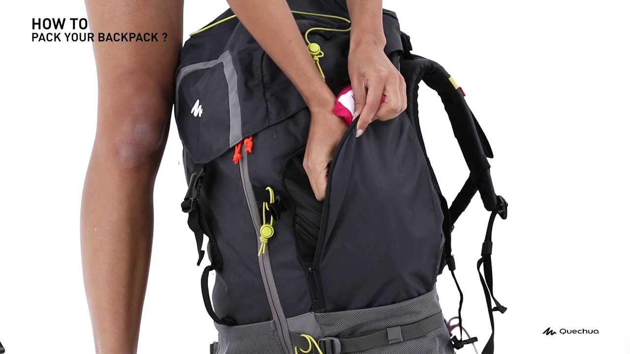 db4fb25382 Quechua - How to pack your backpack - YouTube